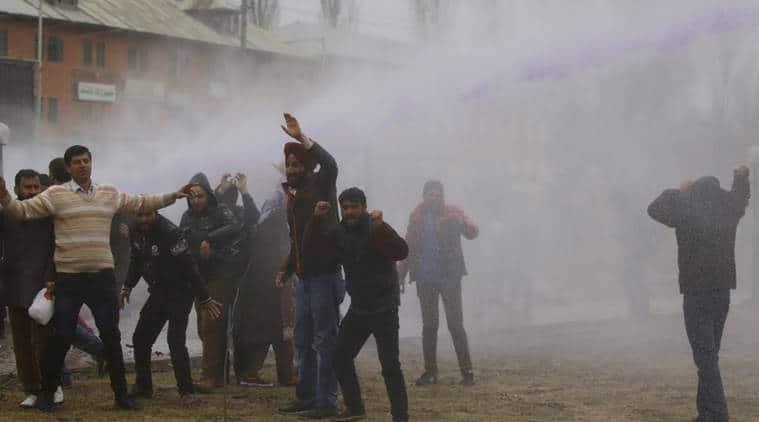 Kashmir news, Jammu and Kashmir news, Mehbooba Mufti, Protest March in jammu nad Kashmir, Jammu and kashmir news, NRHM employees protest IN Jammu nad Kashmir, Jammu and Kashmir National Health Mission Employees, India news, latest news, India news, National news,