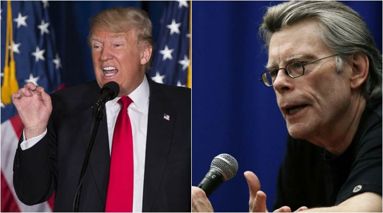 STEPHEN KING ON TRUMP, STEPHEN king makes fun of trump, trump says obama tapped his phones, stephen makes fun of trump, stephen king tweets trump, indian express, indian express news