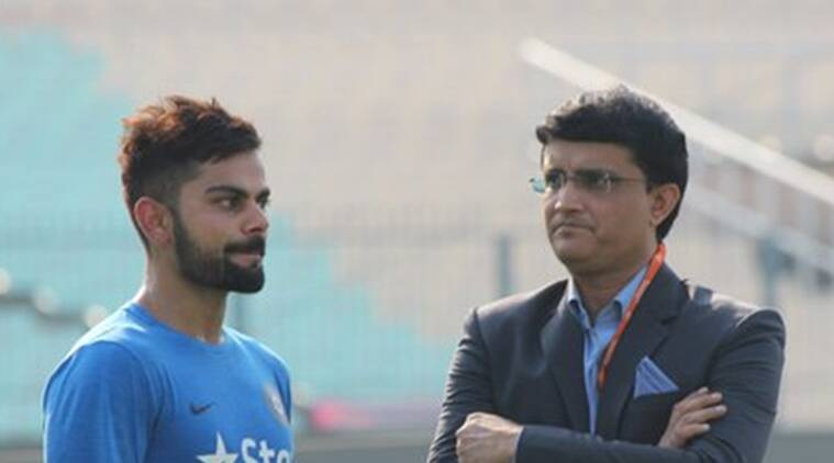 sourav ganguly with kohli