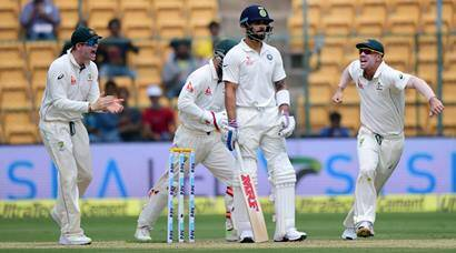 India vs Australia, 2nd Test: India caught in Lyon's den