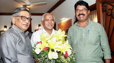 SM Krishna, SM krishna joins BJP, krishna joins BJP, yeddyurappa, karnataka election, BJP, Congress, siddaramaiah, vokkaliga