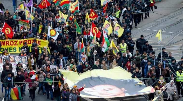 kurdistan, kurds protest frankfurt, frankfurt kurdistan protest,Kurdistan Workers Party, PKK, turkey, kurdish new year, angela merkel