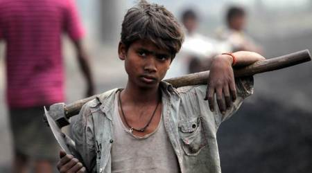 Child labourers, child labourers rescued, child labouers rescued from bangle manufacturing, sonali bangles, Indian Express