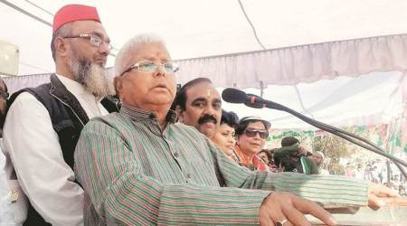 At Congress event, Lalu Prasad Yadav says Nitish Kumar is 'finished', fight between him and BJP