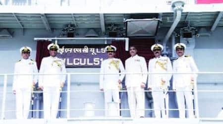 Landing Craft Utility (LCU), Andaman and Nicobar Command, Vice Admiral B K Verma, landing craft, Andaman and Nicobar Islands, LCU project, indian express news
