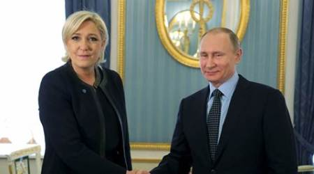Marine Le Pen, Vladimir Putin, Putin, French leader, france elections, french presidential elections, world news, indian express news