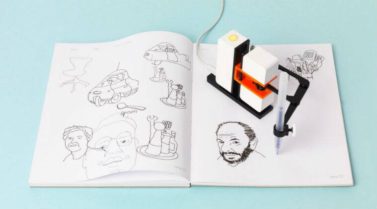 Robotic Arm Turns Digital Doodles Into Pen And Paper Sketches