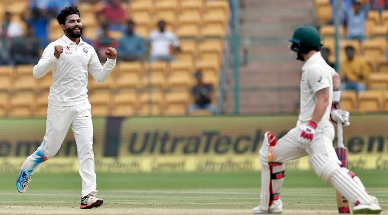 india vs australia 2nd test, ind vs aus, india vs australia, india vs australia score, ravindra jadeja, jadeja, cricket news, cricket