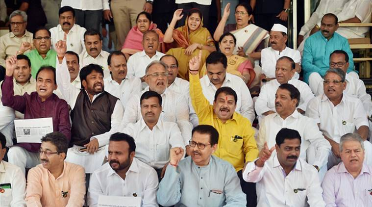 Speaker suspends 19 MLAs for uproar against BJP in Maha assembly