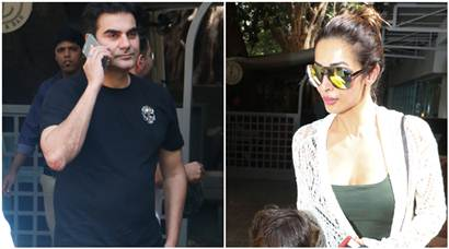 Exes Arbaaz Khan, Malaika Arora Khan chill with son Arhaan
