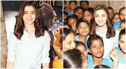 Alia Bhatt is a child herself as she holds Beauty and the Beast screening for kids from NGO
