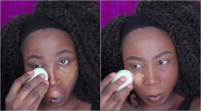 make up, make up videos, makeup hacks, beauty blenders, weird beauty blenders, egg to apply make up, boiled egg to apply founadation, fashion trend, bizarre fashion hacks, fashion news, latest news, indian express