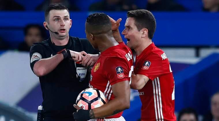 manchester united, manchester united vs chelsea, chelsea vs manchester united, fa cup quarter finals, ander herrera red card, football news, sports news