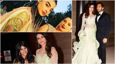 Bani J, Gauahar Khan, Ekta Kapoor party at Mandana Karimi, Gaurav Gupta wedding reception. See pics