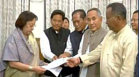 Manipur election results, manipur poll result, manipur results, Manipur BJP, manipur BJP alliance, NPP, LJP, NPP LJP support, BJP alliance, NPF, manipur congress win, ibobi singh, manipur results news, manipur government, manipur news, indian express news