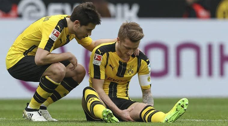 Marco Reus, Reus, Borussia Dortmund, Dortmund, Dortmund vs Benfica, UEFA Champions League, Reus injury, football news, latest news, indian express sports