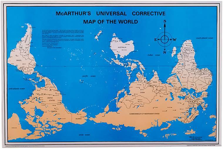 From mercators to gall peters projections how the world maps vary map projections boston public school map south up maps mercator projection world map gumiabroncs Image collections