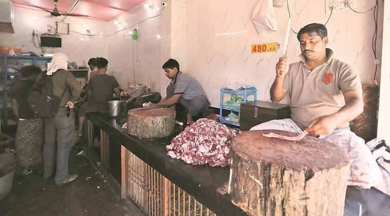 ban on abattoirs, meat ban, beat selling ban, slaughterhouse ban, rajasthan slaughterhouse, jaipur slaughterhouse ban, indian express news, india news