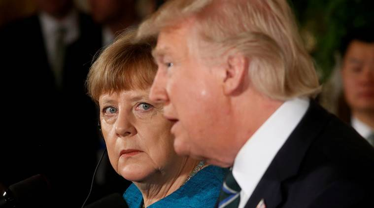 donald trump responds negtive reports meeting merkel