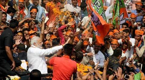 Uttar Pradesh election results 2017, UP election results 2017, Uttar Pradesh election results, Narendra Modi, Amit Shah, Congress, Uttarakhand election results, BJP Modi, BJP Uttar Pradesh victory, Indian Express, India news