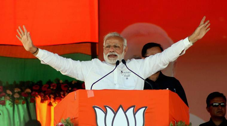 Narendra Modi, Modi wave, elections 2017, UP elections 2017, Uttarakhand elections 2017, Goa elections 2017, Manipur elections 2017, Punjab elections 2017, assembly elections 2017, BJP, Congress, AAP, Bhartiya Janata Party, UP elections 2017 results, UP elections results, Indian Express