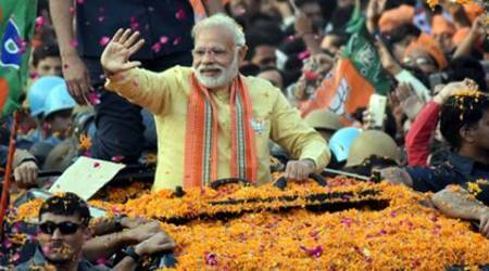 Narendra Modi, modi, modi victory, modi win in up, BJP, BJP-Modi, Narendra Modi-BJP, Uttar Pradesh, Uttarakhand, world media, Narendra Modi, demonetisation, historic win in UP, India news, Indian Express