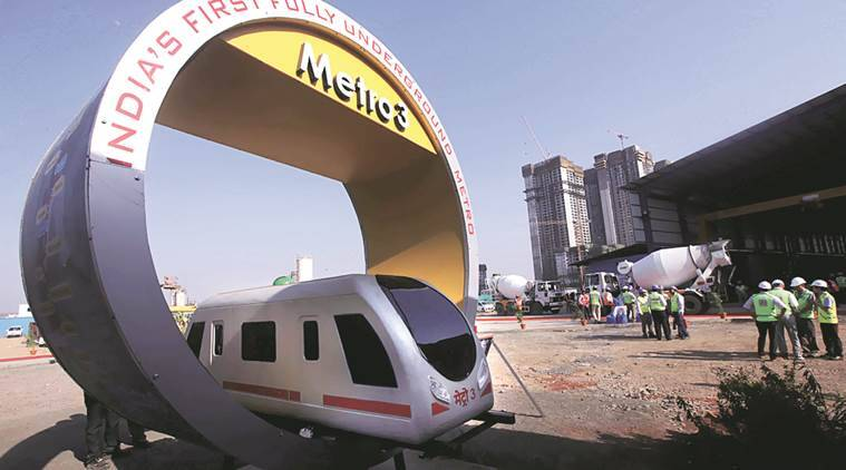 Mumbai metro, Ghatkopar metro station, Ghatkopar metro station suicide attempt, Ghatkopar metro station boy jumps to escape fine, indian express news