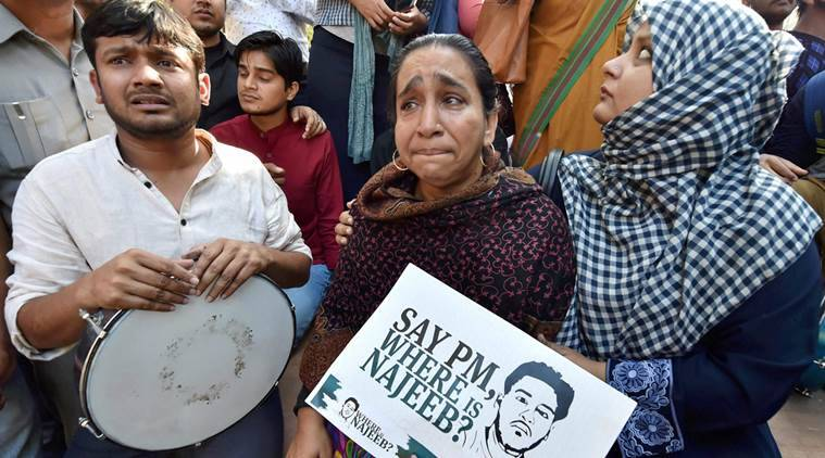 najeeb ahmad, najeeb case, missing jnu student, najeeb case CBI, Delhi HC najeeb case, najeeb missing, where is najeeb, najeeb case delhi police, delhi police najeeb missing case, india news, indian express news