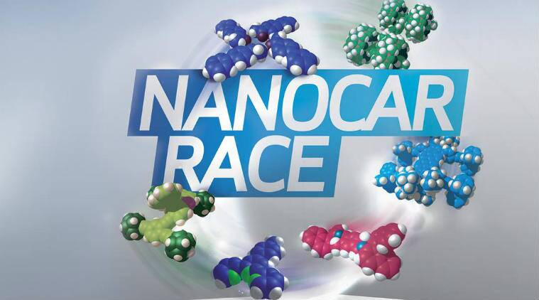 Nano car race, tiny molecular machines, gold atoms race course, National Centre for Scientific Research, CNRS, minute electrical pulses, Youtube Nanocar Race channel, Nano car race, international scientific experiment, real time, manoeuvering nano machines, Science, Science news