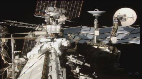 Astronauts complete spacewalk to retrofit space station