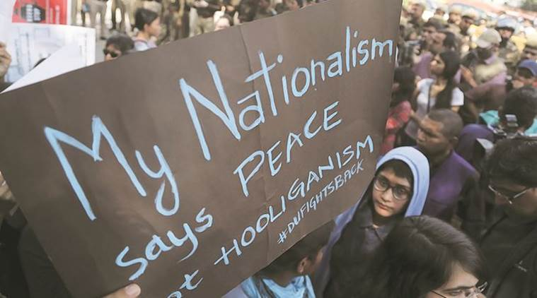 ramjas, ramjas violence, campus violence, indian universities campus violence, abvp, delhi university protests, du protests, du nationalism, nationalist protest, india news