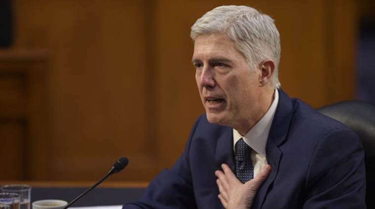 Donald Trump, donald trump administration, Neil Gorsuch,  Supreme Court nominee Neil Gorsuch, US democrat oppose  Supreme Court nominee Neil Gorsuch, world news, indian express news