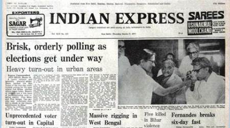 forty years ago, india forty years ago, elections then, elections forty years ago, voting, George Fernandes, khoon pasina, indian express editorial