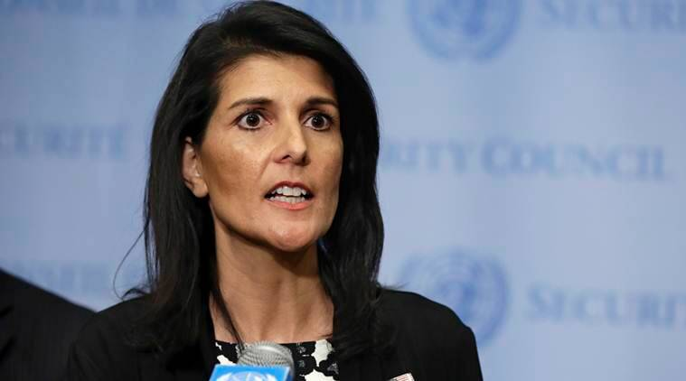 Nikki Haley, United nations, Nikku Haley nuclear weapons, Nikki Haley UN envoy, Nikki Haley UN, United nations news, Indian express, Indian Express news