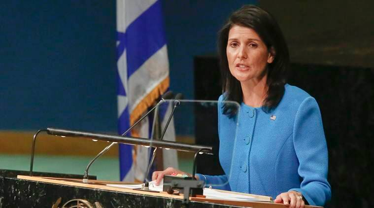 Nikki Haley, United Nations, Iran Nuclear Deal, Iran Ballistic missile test, Iran UN resolution, Indian express, India news