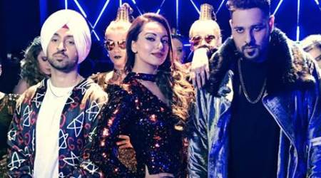 Noor aka Sonakshi Sinha set to Move Your Lakk with Badshah, Diljit Dosanjh. Watch pics, video