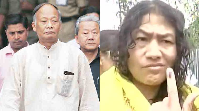 manipur exit polls, manipur, manipur elections 2017, BJP, Manipur BJP, Congress, Bhartiya Janata Party, Okram Ibobi, exit polls, cvoter exit polls, india today exit polls, Manipur assembly elections 2017, Manipur polls, BJP-Congress, Irom sharmila, sharmila, india news, indian express news