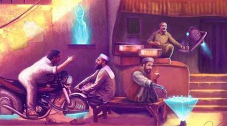 This Pakistani illustrator's Sci-Fi touch to everyday scenes in the country is spellbinding