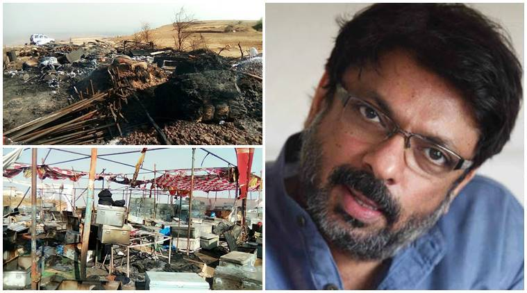 padmavati, sanjay leela bhansali, padmavati controversy, karni sena, rajput karni sena, padmavati sets vandalised, karni sena attacks bhansali, bhansali attacked, padmavati news, padmavati set kolharpur fire, chittaurgarh fort padmavati, rajasthan government padmavati, padmavati arun chaturvedi, karni sena censor padmvati, padmavati rajasthan shooting, padmini padmavati sanjay leela bhansali