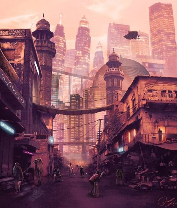 Pakistan, pakistan artist, sci fi images, sci fi art, pak artist sci fi creations, reimagining pakistan, pakistan art illustration sci fi project, art news, pakistan news, latest news, trending news,