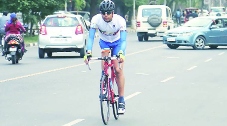 Sixth Asian Para-road Cycling Championship, Asian Championships, road cycling, Chandigarh cyclist Abishek Singh, Asian Para-Raod Cycling Championship, indian express news