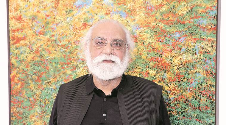 paramjit singh, artist, painter, art exhibition, imagination, paramjit singh's paintings, art and culture, indian express