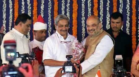 Manohar Parrikar, Parrikar, Goa CM Manohar Parrikar, Goa election results 2017, Goa election results, Goa governor, Goa BJP, Goa Congress, Indian Express, India news
