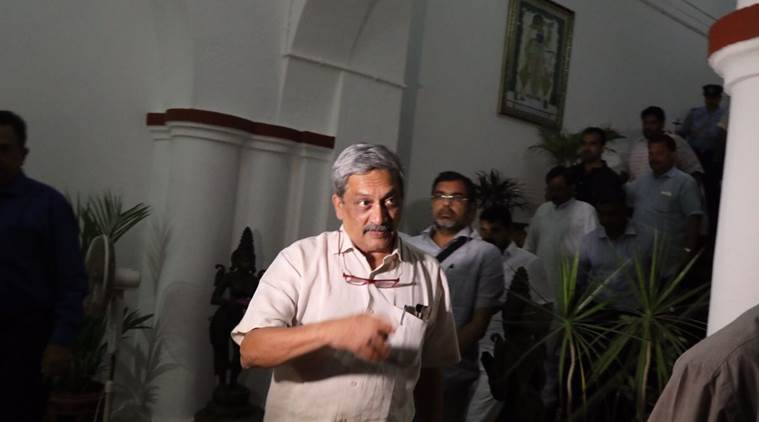 Goa elections, Goa election results, Parrikar CM, Goa CM Parrikar, Manohar Parrikar, defence minister Manohar Parrikar, Goa news, Nitin Gadkari, BJP, Congress, Manohar Parrikar as Goa CM, India news, Indian Express