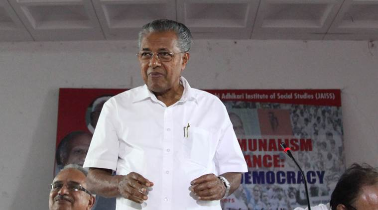 Pinarayi Vijayan, Kerala assembly, UDF walks out, UDF walks out of Kerala assembly, Pinarayi Vijayan news, Shiv Sena, UDF-Shiv Sena, India news, Indian Express