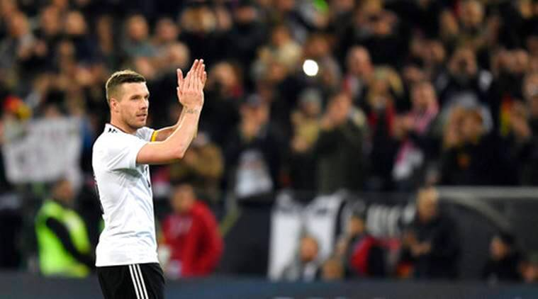 Lukas Podolski, germany england friendly match, Lukas Podolski farewell match, Lukas Podolski germany, germany vs england, football news, football, sports, sports news