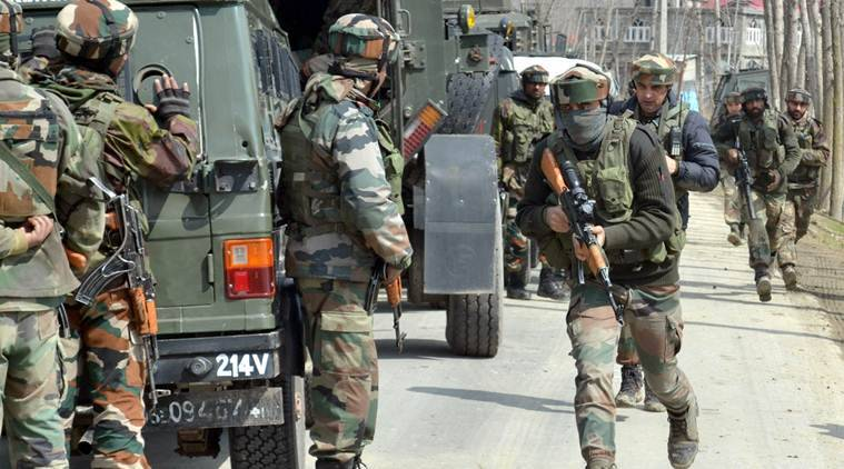 Kupwara encounter, Kupwara, jammu and kashmir, J&K, J-K encounter, kashmir, kalaroo, J-K kalaroos, jammu and kashmir news, terrorists, encounter underway, i9ndia news, indian express news
