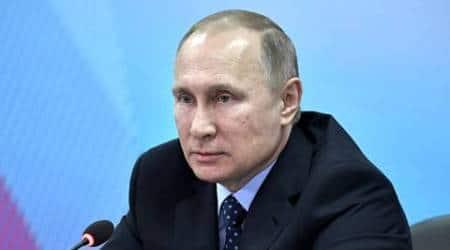 Vladimir Putin, French presidential contender Marine Le Pen, French presidential contender Marine Le Pen meets Putin, Kremlin, Dmitry Peskov, EU, France presidential election, Russia-France, indian express news