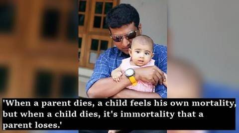 """quora, quora india, quora india viral questions, father-daughter relationship, quora father daughter relationship, quora indian father who buried 31 months old daughter, indian express, indian express news, kerala news, trending news, trending, """"Which is worse: watching your child die, or watching your parent die? quora question"""