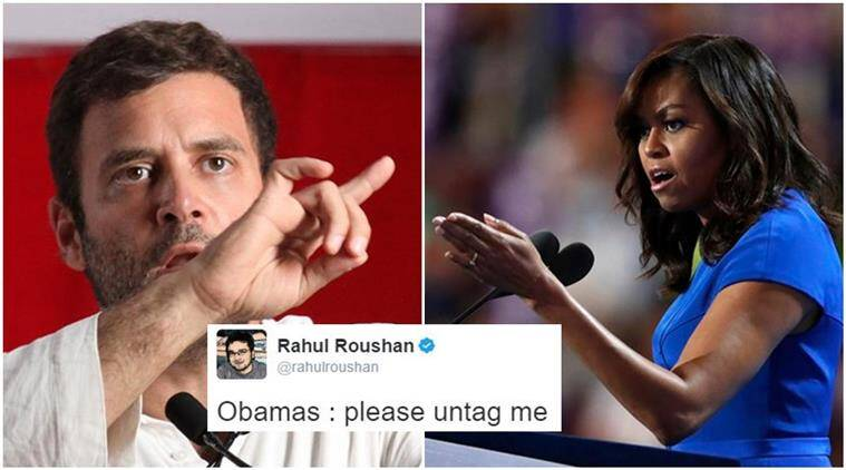 rahul gandhi, barack obama, michelle obama, rahul gandhi michelle obama, rahul gandhi made in jaunpur, made in jaunpur comment rahul gandhi, indian express, indian express news